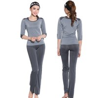 Wholesale Ladies Yoga three Piece long sleeve t shirt and pants Sport Suit Fitness Set quick dry Running Suit Yoga Pants Gym Yoga Set