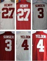 baseball alabama - 2016 Men s NCAA Jersey Alabama Crimson Tide Henry Sunseri Yeldon White Red Top Quality Drop Shipping Accept Mixed orders Wholesa