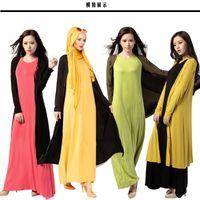 Wholesale 056 new Dubai robes Muslim women loose cardigan jacket large size women s long coat Spot Turkey large size women dress colors m L