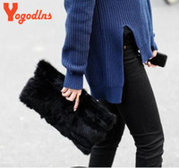 Wholesale Factory direct sale winter bag fashion handbag women s free style shoulder bag made of real rabbit fur women clutch bolsas