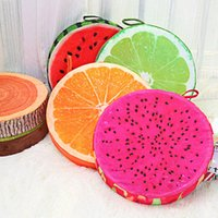 Wholesale 3D Summer Fruit Pillow PP Cotton Office Chair Back Cushion Throw Pillow New Arrival Sofa Meditation Floor Cushions Birthday Gift