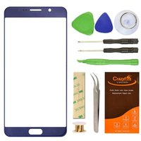 Wholesale 5 inch for Samsung Galaxy Note Outer Glass Touch Screen Cover Front Glass Replacement Repair Parts LCD Protective with Adhesive Tools Top