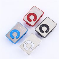 Wholesale Protable Mini Mirror Clip USB Digital Mp3 Music Player Support GB GB GB GB SD Card colors
