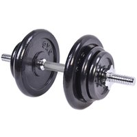 Wholesale 44 LB Weight Dumbbell Set Adjustable Cap Gym Barbell Body Workout Iron Plates