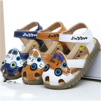 beef sandals - 2016 Summer New Children Fashion Skid Wrap Toe Sandals Leisure Cartoon Breathable Boys And Gril Beef Tendon Bottom Shoes