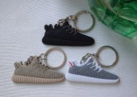 Wholesale 2016 New Yeezy Boost Keychain Sneaker Key Chain Kids Key Rings Key Holder Llaveros Chaveiro Porte Clef