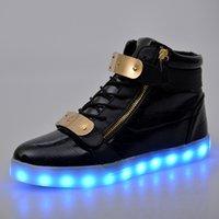 adult baskets - adult LED luminous basket shoes men women light up glowing sneaker for hip hop
