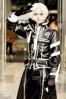 allen walker cosplay - D Gray man Allen Walker PU Faux Leather Fighting Clothes Cosplay Costume anysize