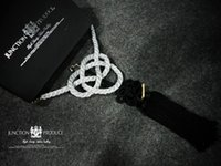 Wholesale C01 X0103 In box Hot sale car Interior Decorations JDM JUNCTION PRODUCE Kin Tsuna rope Large silver with kiku knots rope black in box l