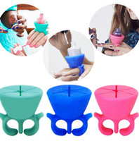 Wholesale Finger Nail Gel Polish Holder Silicone Finger Wearable Bottle Holder with Ring Nail Art Tools Gels Varnish Stand Holder color KKA366