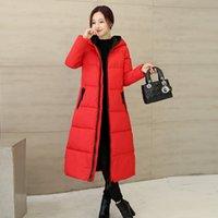 Wholesale Women s Clothing Hooded Dustproof Glasses Long Wool Coat New Anti Fog Down Cotton padded Jacket Female