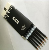 Wholesale 2016 Newest Makeup NEW KYLIE IN Waterproof Eyebrow Pencil Makeup Skinny Brow Pencil g DOuble ended with eyebrow brush Color