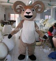 Gros-nice costume de mascotte de chèvre adulte