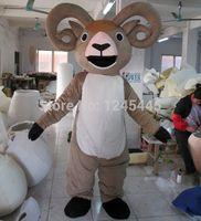 Wholesale nice adult goat mascot costume