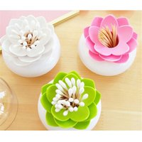 Wholesale pc Fashion Colors Lotus Home Decor Toothpick Cotton Swab Holder Storage Box Pick Toothpick case GI870661
