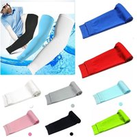Wholesale Cooling Athletic Sport Skins Arm Sleeves Sun Protective UV Cover Golf Pair