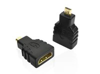 Wholesale HDMI Female to Micro HDMI Type D Male Adapter F M Converter Connector HD TV Camera for hdmi adapter