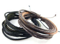 Wholesale Hot three leather multilayer woven leather cord bracelet European and American casual men s leather bracelet