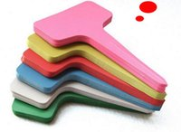 Wholesale High quality x10cm Plastic Plant T type Tags Markers Nursery Garden Labels Decoration