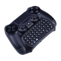 Wholesale Mutilfunction in Bluetooth Mini Wireless Chatpad Message Keyboard Game Consoles for Sony Playstation PS4 Controller