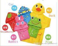 Wholesale Animal Cartoon Raincoat Kids Rain Coat Boy s Girls Rain cape Waterproof Coats children s raincoat Design