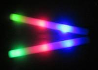 vente chaude gratuite 720pcs expédition / lot LED clignotant mousse bâton de lumière jusqu'à acclamant mousse de bâton lumineux pour Noël