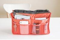 Wholesale Admission package travel organizer Dual Insert Multi function Handbag Makeup Bag Pocket Bag Organizer Washing Bag Cosmetic Handbag