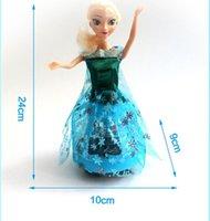 achat en gros de jeux vidéo pour les filles-Frozen Barbie Princesse Anna briller jupe bleue Aisha congelés garçons et filles jeux vidéo pour enfants