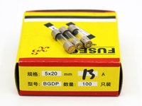 Wholesale 100pcs A MM Fuses Fast Quick Blow Glass Tube Fuse x20mm V A F13AL250V