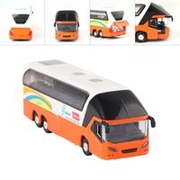 Wholesale High Quality New Model Car Scale City SCF Double Decker Sightseeing Tour Bus Diecast Model Kids Toy Cars