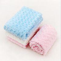 baby bedding roses - 2016 New Brand Double Layer Blanket Children Rose Velvet Blankets Newborn Baby Wrap baby coral fleece bedding size cm