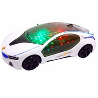 Wholesale 2016 New Arrival Toy Car LED D Music Automatic Steering Car Toy Light up Toys Best Gift For Kids