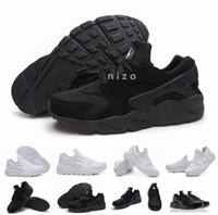 al por mayor zapatos corrientes de tamaño para mujer-Air Huarache Clásico Blanco Negro Huarache Zapatos Hombre Y Huaraches Womens Zapatillas Zapatillas Tamaño 36-46