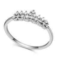 Wholesale Rings Fashion Quality AAA Cubic Zirconia Wedding Rings Jewelry Women Brand New Luxury Exquisite K Gold Plated Crown Finger Rings TR029