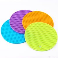 Wholesale Silicone Pot Holder Silicone Heat Resistant Coasters Cup Insulation Mat Tableware Insulation Pad Potholders Insulation Non slip Mat
