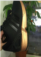 big boy costumes - cheap Originals ZX FLUX black gold man and women sports SHOES with shoe box