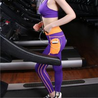 Wholesale Women Fashion Sports Long Yoga Pants with Pocket Brand New Plus Size Gym Fitness Running Pants