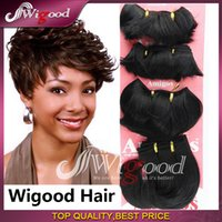 Wholesale 2016 New fashion Africa Women s short wig Hair shade Small volume professional wig Amigos wire Small wave short wigs