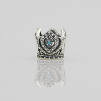 bead crown pattern - Silver Antique Bead Crown Pattern Fashion Jewelry Sterling Silver Charm Bracelets Bangles for Women European Beads Bracelet