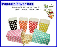 Wholesale packs wedding favors and gifts paper popcorn boxes pop corn bag goodie bags loot bags set of fast shipping