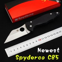 Wholesale Newest Spyderco C85 tactical knife Cr13Mov Blade Utility Folding knife EDC Gift Knives Hunting Tools Outdoor Survival knife