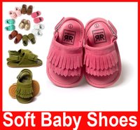 Wholesale Baby Shoes Infant Toddler Sandals Baby Anti slip Tassel Fringe Moccasin Shoes Baby Moccasins Newborn Shoes Boys Girls Shoes
