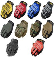 Wholesale A1 Mechanix Multicam Bicycle Tactical Military Airsoft Shooting Paintball US Army Full Finger Gloves Motocycel Bicycle Mittens
