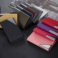 Wholesale Men Business ID Credit Card Holder Stainless Steel Waterproof Pocket Credit Card Holder Package Case Cover ZC0112