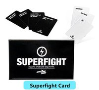 Wholesale 2016 Most Popuar Card Games Superfight Cards Card Core Deck Playing Cards Also Have Basic And Expansion Cards In Stock DHL Free