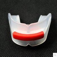 basketball face guard - Boxing mouthguard Taekwondo WTF teeth guard basketball sports braces professional double faced transparent teeth Mouth guard