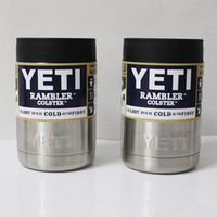 Wholesale 12 oz Yeti Mug oz Stainless Steel Colster Yeti Coolers Rambler Colster YETI Cups Cars Bilayer Vehicle Insulation Cup Tumbler Mug MQ50