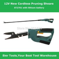 Wholesale Garden Power Tools V electric pruning shears ST2701 cordless loppers Sier rechargeable hedge trimmer branches scissors shears