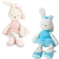 baby bunny rabbits for sale - Kids Plush Toys Hot Sale Bunny Rabbit With Tags And CE CM Length Cute Lovely Baby Toys Plush for Kids Drop Shipping HT3075