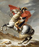 horse decor - Napoleon Crossing the Alps on White Horse Hand painted Art oil painting canvas Wall decor in any size customized var1824